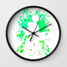 Paint Splatter Anime Inspired Shirt Wall Clock