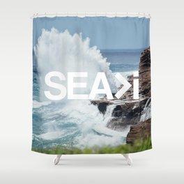 SEA>i | HEAVEN'S POINT Shower Curtain