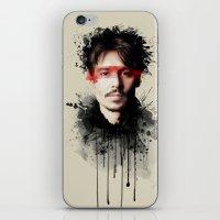 johnny depp iPhone & iPod Skins featuring Johnny Depp by Brigitta