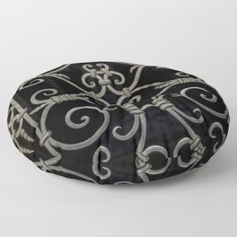 Pretty ornamented gate Floor Pillow