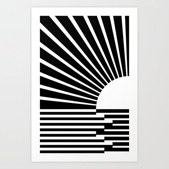 White rays Art Print