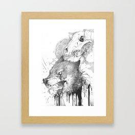 R A B I E S Framed Art Print