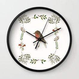 Robin and the garden Wall Clock