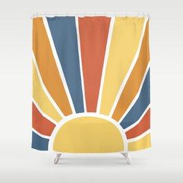 Desert Sun Ray Burst Shower Curtain