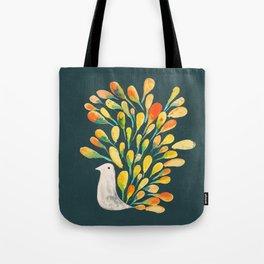 Watercolor Peacock Tote Bag