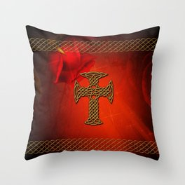 Wonderful celtic cross Throw Pillow