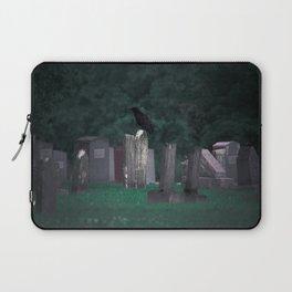 Crow in a Graveyard. Laptop Sleeve