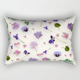 Delicate Violets Rectangular Pillow