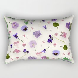 Delicate Violets Rectangular Pillow