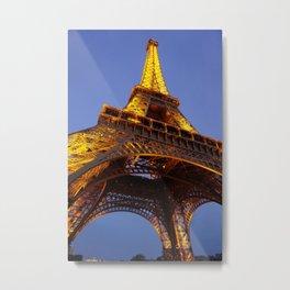 Tour Eiffel Au Crépuscule Metal Print