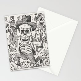 Skeleton and Bones Mexican Art,  Jose Guadalupe Posada Stationery Cards
