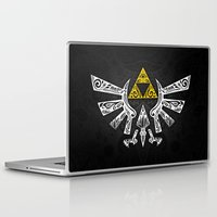 hyrule Laptop & iPad Skins featuring Zelda Hyrule by Art & Be