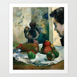Still Life with Profile of Laval by Paul Gauguin Art Print