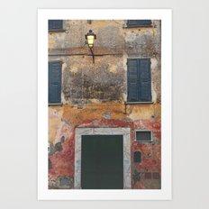 Italy Lamp post Art Print