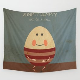 Humpty Dumpty. Children's Nursery Rhyme Inspired Artwork. Wall Tapestry