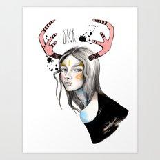 Buck (isolated) Art Print