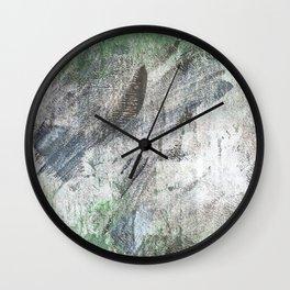 Gray green abstract Wall Clock