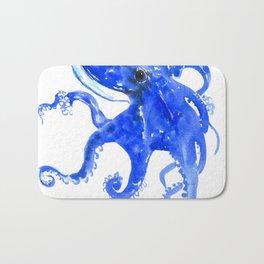 Blue Octopus Bath Mat