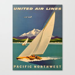 Vintage poster - Pacific Northwest Canvas Print