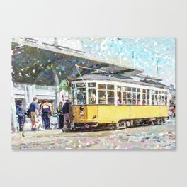 San Francisco Muni F Car at Embarcadero Station by Mark Gould Canvas Print