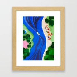 Cruising on a summer day Framed Art Print