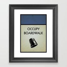 occupy boardwalk. Framed Art Print