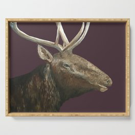 Big Bull Elk Profile Serving Tray