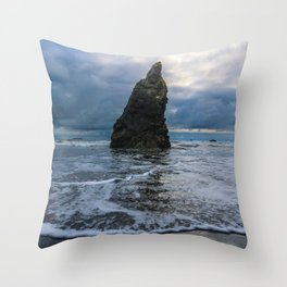 Ruby Beach Spire Throw Pillow