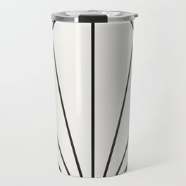 Diamond Series Sun Burst Charcoal on White Travel Mug