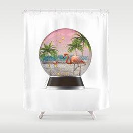 Vacation Globe Shower Curtain