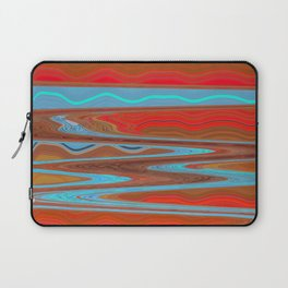Abstract Retro Lava Water Deep Earth Landscape Laptop Sleeve