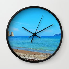 Perce Beach panoramic Wall Clock