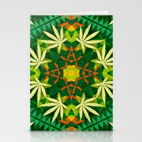 cannabis Stationery Cards featuring Tribal Cannabis by GypsYonic