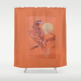 Golden Eagle Fancy Illustration of fairy tale Pastel drawing Shower Curtain