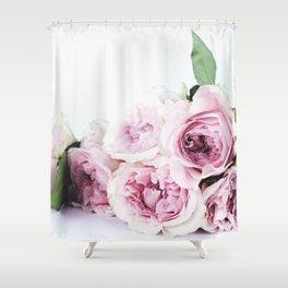 Pink peoniews Shower Curtain