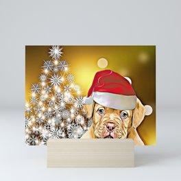Christmas Dogue de Bordeaux Mini Art Print