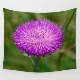 Nodding Thistle Close-Up Wall Tapestry