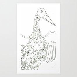 The Stork Diet Art Print