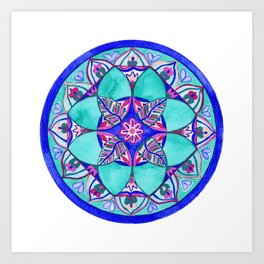 Sacred Water Mandala Art Print