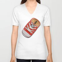 vans V-neck T-shirts featuring Cute red Vans all star baby shoes apple iPhone 4 4s 5 5s 5c, ipod, ipad, pillow case and tshirt by Three Second