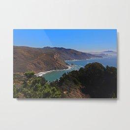 Overlooking Marin Headlands Metal Print