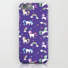 Unicorns and Rainbows - Purple Slim Case iPhone 6s