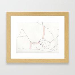 Tension - Stockings Framed Art Print