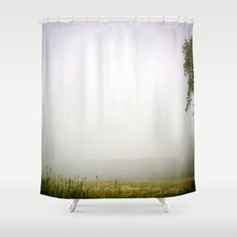 Deep in the fog Shower Curtain