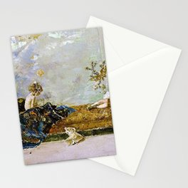 The Painters Children, Maria Luisa And Mariano, In The Japanese Room Stationery Cards