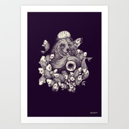 Fish charmer Art Print