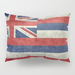 Hawaiian Flag in Vintage Retro Style Pillow Sham