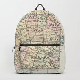 Vintage Map of Eastern North Carolina (1891) Backpack