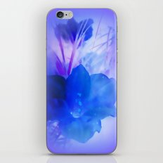 Blue flower iPhone & iPod Skin