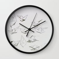 boats Wall Clocks featuring Boats by Marianna Shomero